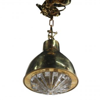 Cut Glass and Brass Pendant Light-NL0720-8