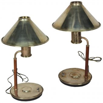 Pair of Brass Ship's Stateroom Lights-NL0720-15