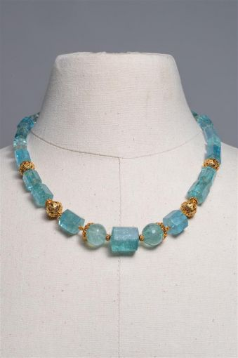 Beveled Aquamarine and 22K Gold-jn20p3