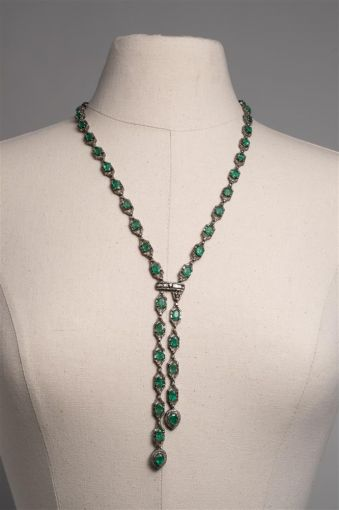 Emerald and Diamond Lariat Necklace-jn20p8