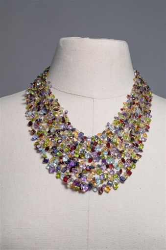Semi Precious Multi-Strand Necklace-jn20p15