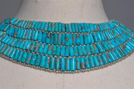 American Turquoise and Sterling Choker-jn20p1