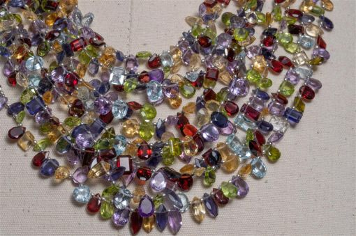Semi-Precious Faceted Necklace-jn20p16