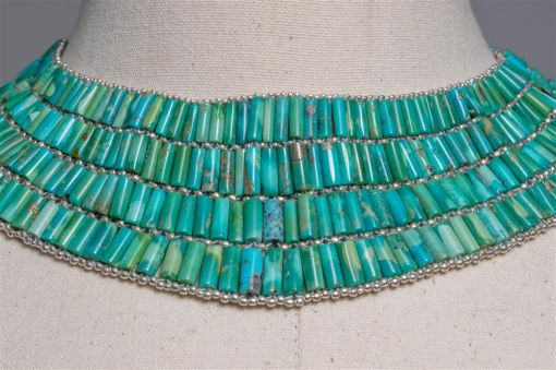 Tibetan Turquoise and Sterling Necklace-jn20p19