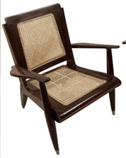 deco period teak and rosewood leather club chairs