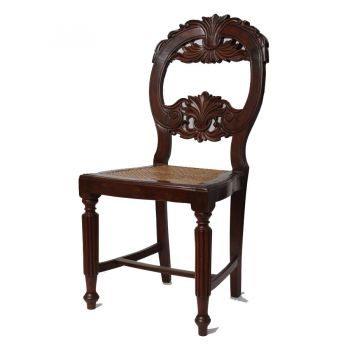 One of a Set of 4 Portuguese Goa Rosewood Chairs, Late 19th C