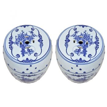 Pair of Japanese Porcelain Garden Seats-FS2018-10