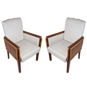 Pair of Teak Art Deco Chairs-FS2018-11