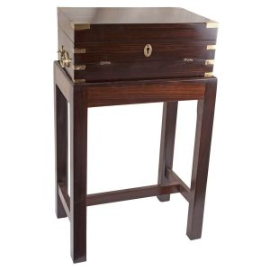 Rosewood Officer's Lap Desk, on Stand