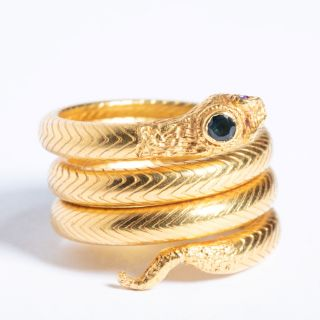 22K Gold Ring with Sapphire-JR2019-2