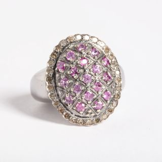 Burmese Ruby and Diamond Ring-JR2019-5