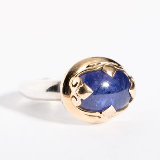 Gold and Sterling Sapphire Ring-JR2019-17