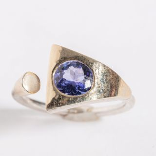 Gold and Sterling Tanzanite Ring-JR2019-18