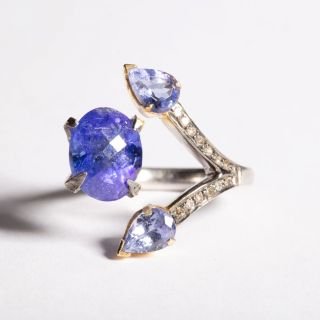 Tanzanite and Diamond Ring-JR2019-25