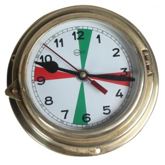Brass Ship's Radio Room Clock-NI0720-11