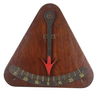Teak Ship's Clinomter-NI0720-43