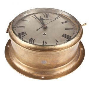 Brass Viking Ship's Clock, Mid-Century - FA2017-14