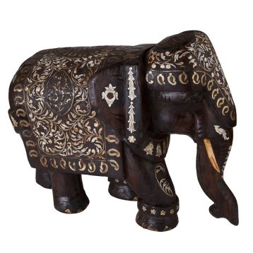 Rosewood, Brass and Ivory Elephant   (FD0201610)