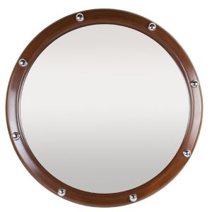 Teak Mirror with Chrome Rivets   (FD0201611)