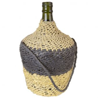 Handblown bottle with ship ropework (FD0201636)