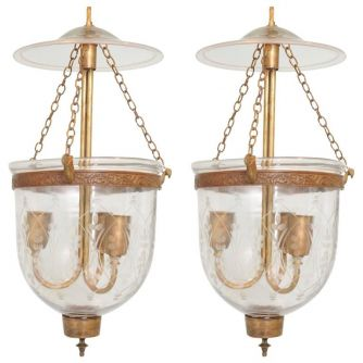 English Bell Jar Lanterns - (LH2018-01)