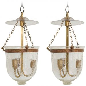 Pair of English Bell Jar Lanterns (LH2018-02)