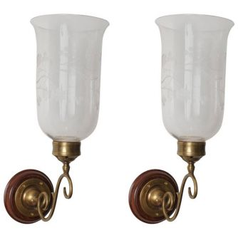 Pair of Hurricane Shade Sconces (LH0201301)