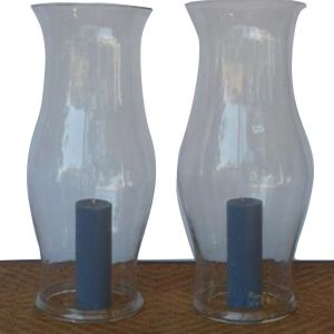 Pair of hand-blown hurricane shields (LH0201304)